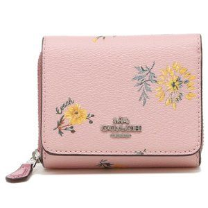 SMALL TRIFOLD WALLET WITH DANDELION FLORAL 2924